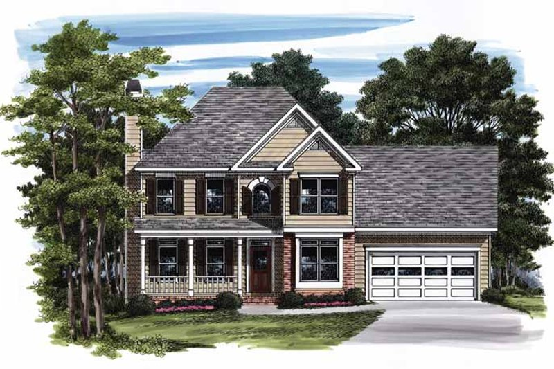 Country Exterior - Front Elevation Plan #927-782
