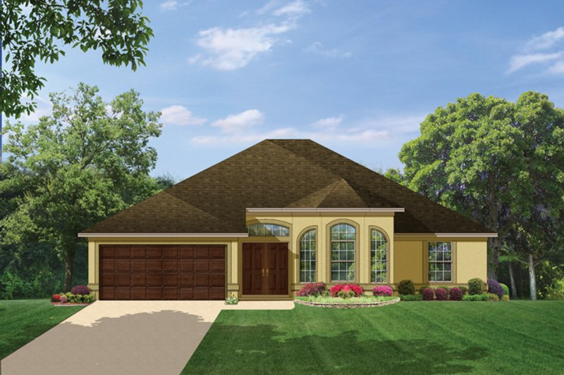House Plan Design - Mediterranean Exterior - Front Elevation Plan #1058-36