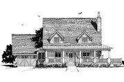 Country Style House Plan - 3 Beds 3.5 Baths 1825 Sq/Ft Plan #942-50 Exterior - Front Elevation