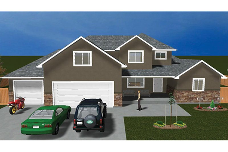 Traditional Exterior - Front Elevation Plan #1060-25