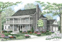 Country Exterior - Front Elevation Plan #1002-10