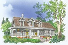 Architectural House Design - Country Exterior - Front Elevation Plan #929-480