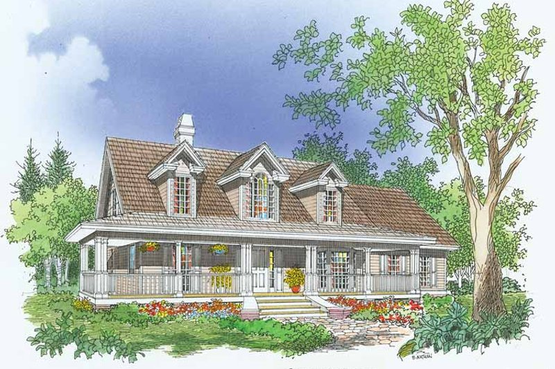 Country Exterior - Front Elevation Plan #929-480