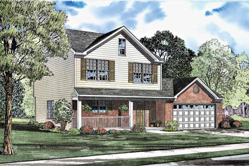 Country Exterior - Front Elevation Plan #17-3013