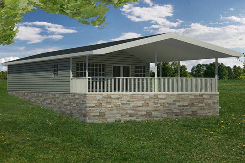 Cabin Exterior - Rear Elevation Plan #1061-25 - Houseplans.com