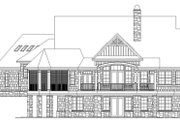 Craftsman Style House Plan - 4 Beds 4 Baths 2896 Sq/Ft Plan #929-970 Exterior - Rear Elevation