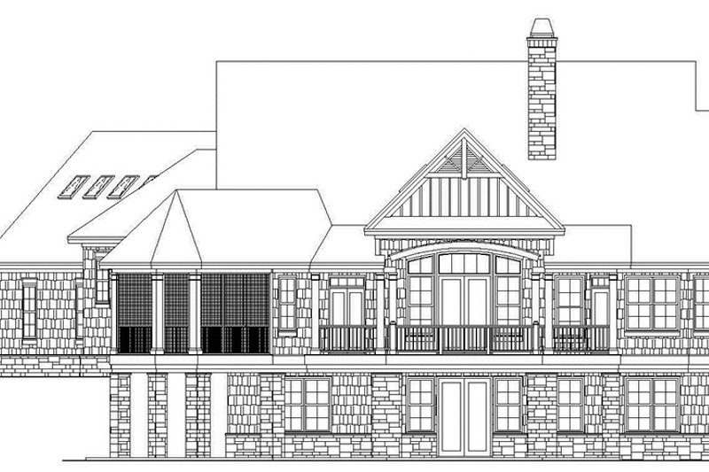 Craftsman Exterior - Rear Elevation Plan #929-970 - Houseplans.com