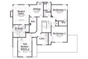 Country Style House Plan - 3 Beds 2.5 Baths 2489 Sq/Ft Plan #419-181 Floor Plan - Upper Floor Plan