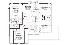 Country Floor Plan - Upper Floor Plan Plan #419-181