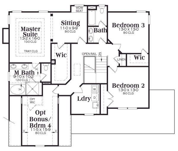 Country Floor Plan - Upper Floor Plan Plan #419-181