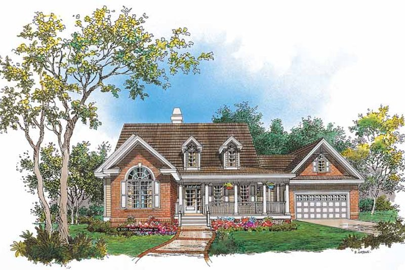 Country Exterior - Front Elevation Plan #929-637