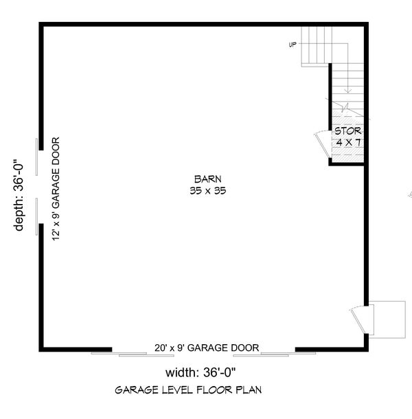 Farmhouse Floor Plan - Main Floor Plan #932-75