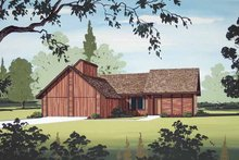 Architectural House Design - Contemporary Exterior - Front Elevation Plan #45-403