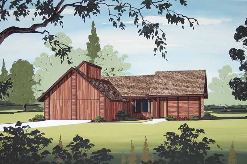 Contemporary Exterior - Front Elevation Plan #45-403