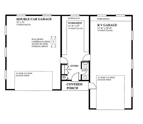 Country Floor Plan - Main Floor Plan Plan #118-138