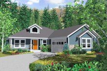 Architectural House Design - Country Exterior - Front Elevation Plan #126-128