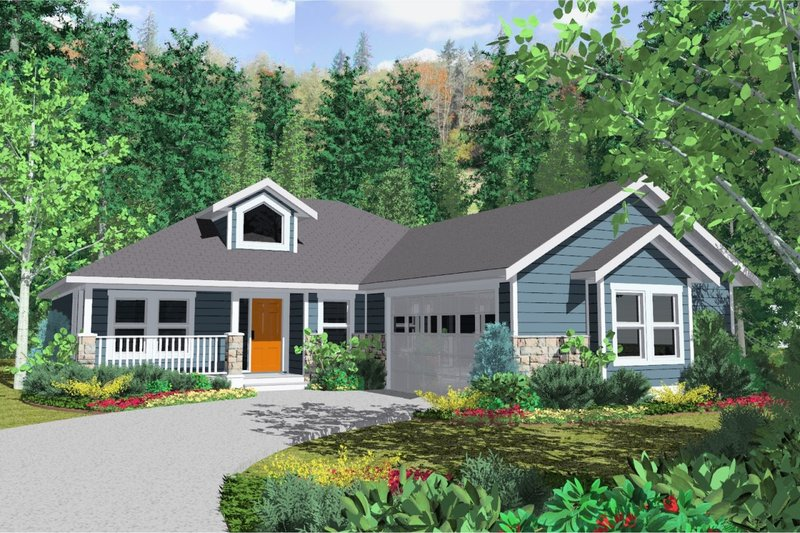 Home Plan - Country Exterior - Front Elevation Plan #126-128