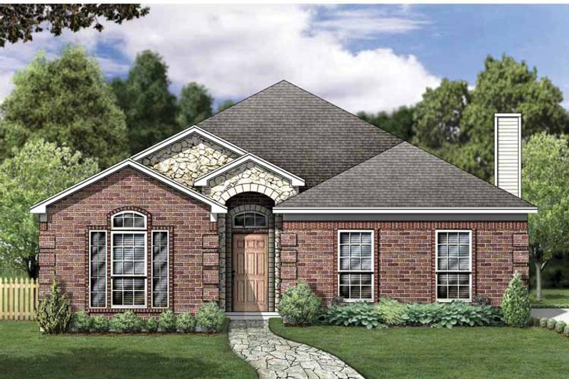 Traditional Exterior - Front Elevation Plan #84-763 - Houseplans.com
