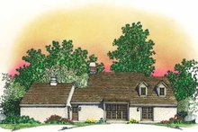House Plan Design - Country Exterior - Rear Elevation Plan #1016-81
