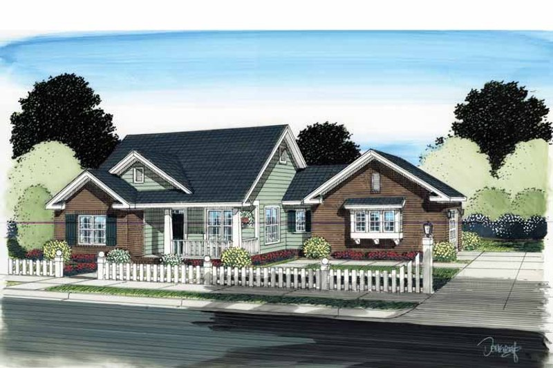 Traditional Exterior - Front Elevation Plan #513-2122 - Houseplans.com