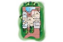 Mediterranean Floor Plan - Main Floor Plan Plan #1017-16