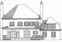 European Exterior - Rear Elevation Plan #137-173