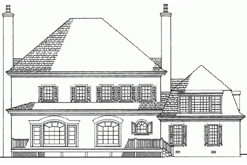 European Exterior - Rear Elevation Plan #137-173 - Houseplans.com