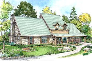Craftsman Exterior - Front Elevation Plan #140-124