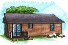 Ranch Exterior - Rear Elevation Plan #70-1014