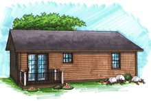 House Plan Design - Ranch Exterior - Rear Elevation Plan #70-1014