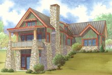 Craftsman Exterior - Rear Elevation Plan #17-3399