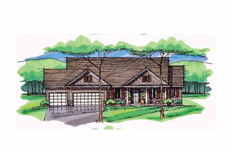 Craftsman Exterior - Front Elevation Plan #51-982 - Houseplans.com