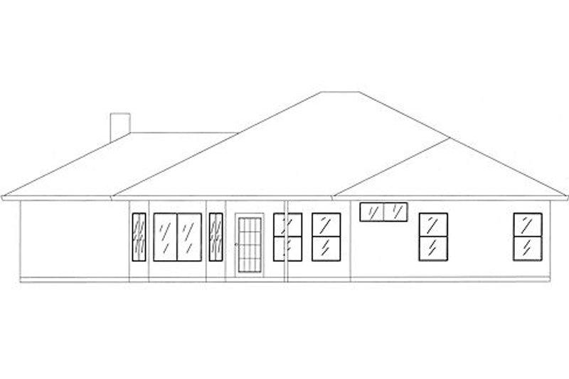 Traditional Exterior - Rear Elevation Plan #437-18 - Houseplans.com