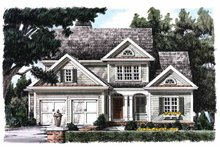 Country Exterior - Front Elevation Plan #927-841