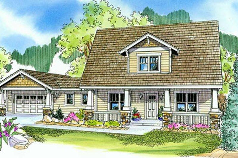 Home Plan - Bungalow Exterior - Front Elevation Plan #124-736