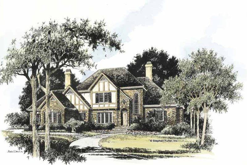 Country Exterior - Front Elevation Plan #429-422