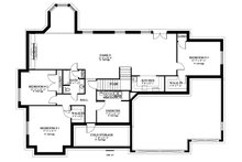 Traditional Floor Plan - Lower Floor Plan Plan #1060-61