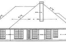 Home Plan - Ranch Exterior - Rear Elevation Plan #42-514