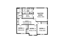 Traditional Floor Plan - Upper Floor Plan Plan #1010-125