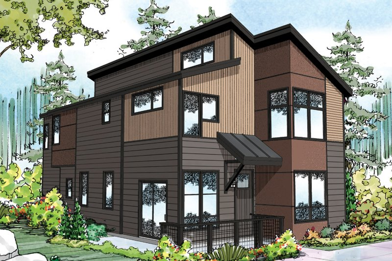 Dream House Plan - Exterior - Front Elevation Plan #124-954