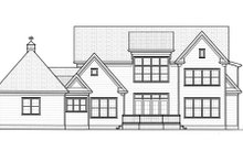 Colonial Exterior - Rear Elevation Plan #413-826