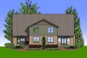 Craftsman Style House Plan - 2 Beds 2.5 Baths 1626 Sq/Ft Plan #48-626 Exterior - Rear Elevation