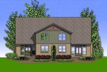 Craftsman Exterior - Rear Elevation Plan #48-626