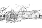 Craftsman Style House Plan - 4 Beds 3 Baths 3827 Sq/Ft Plan #928-253 Exterior - Rear Elevation