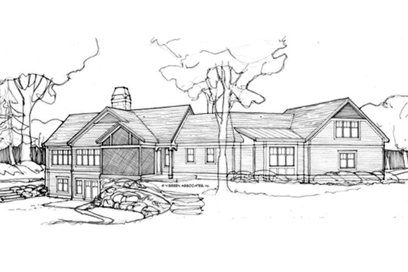 Craftsman Exterior - Rear Elevation Plan #928-253 - Houseplans.com
