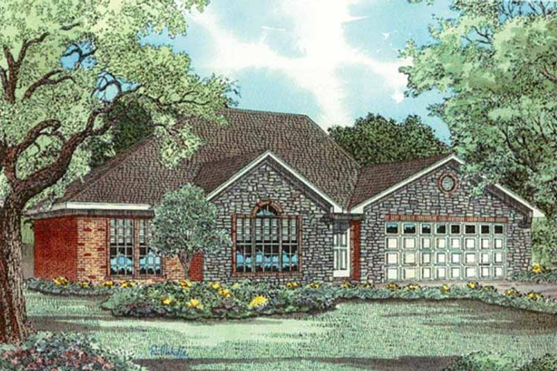 Country Exterior - Front Elevation Plan #17-3156