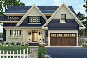 Craftsman Exterior - Front Elevation Plan #51-1174