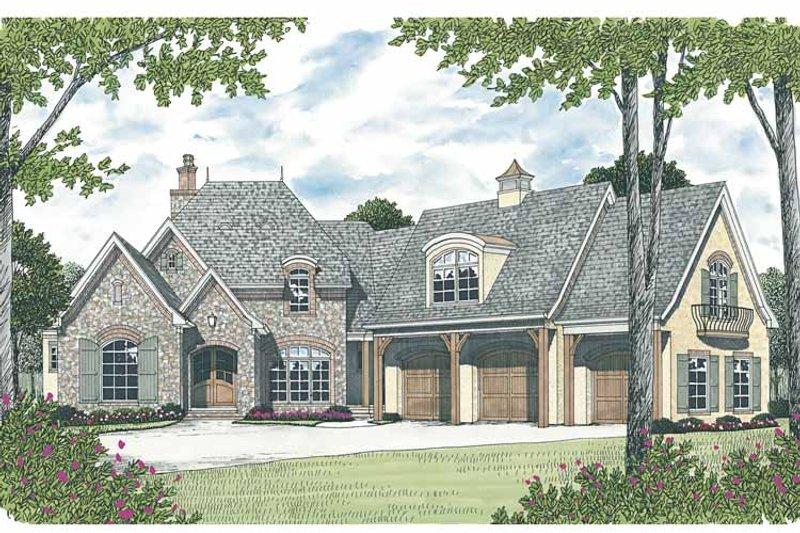 European Exterior - Front Elevation Plan #453-594 - Houseplans.com