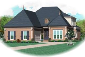 Colonial Exterior - Front Elevation Plan #81-1526