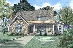Cottage Exterior - Front Elevation Plan #17-2544